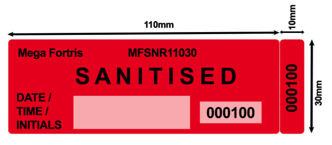 Sanitised security label front